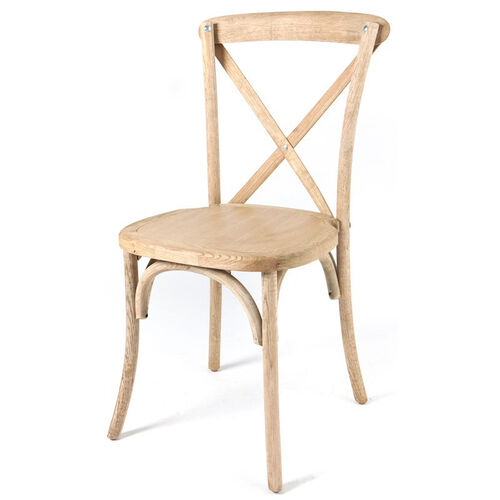 Our Rustic Sonoma Solid Wood Cross Back Stackable Dining Chair is on sale now.