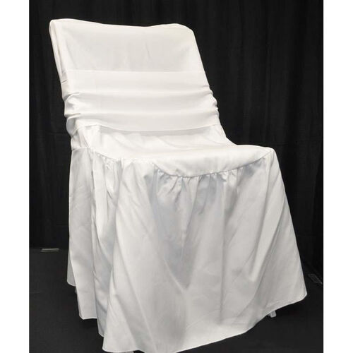 Our Renaissance Series Ruffled Shrink Resistant Polyester Chair Cover with 6