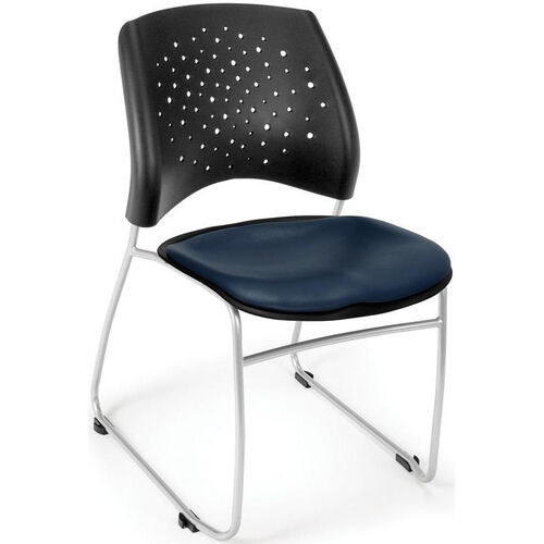 Our Stars Stack Chair with Vinyl Seat - Navy is on sale now.