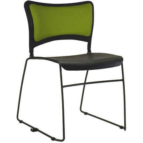 Quick Ship Stax Stacking Chair with Upholstered Back