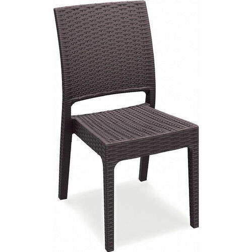 Florida Outdoor Wickerlook Resin Stackable Dining Chair