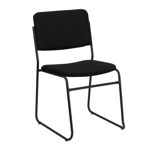 Our HERCULES Series 1000 lb. Capacity High Density Black Fabric Stacking Chair with Sled Base is on sale now.