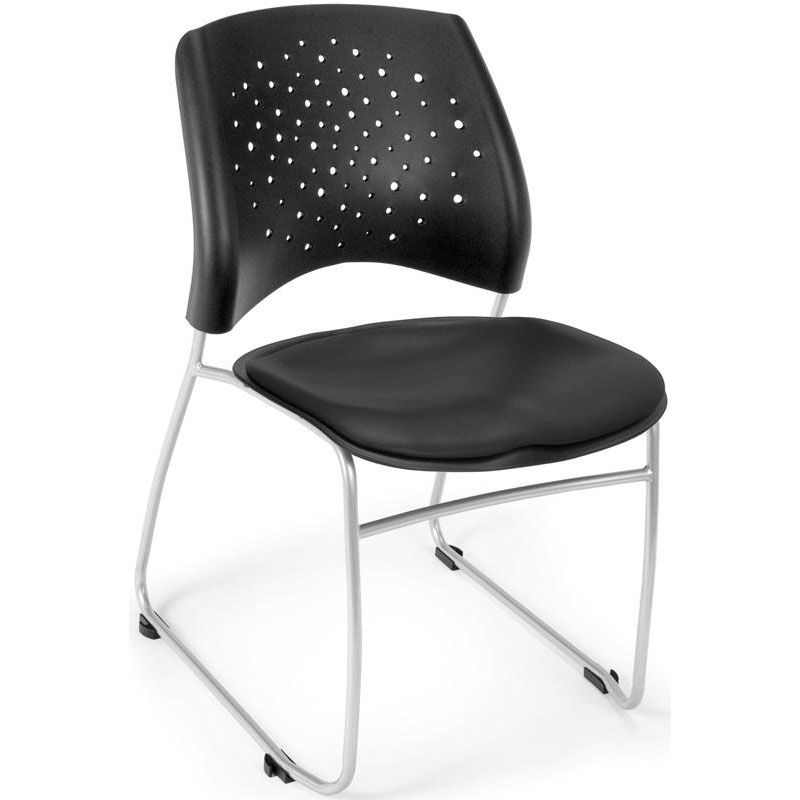 Our Stars Stack Chair With Vinyl Seat   Black Is On Sale Now.