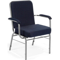 Comfort Class Big & Tall 500 lb. Capacity Arm Stack Chair - Pinpoint Navy Fabric