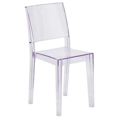 Our Phantom Series Transparent Stacking Side Chair is on sale now.