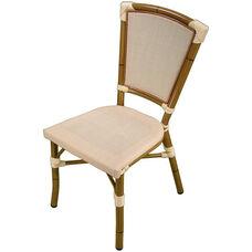 Key West Durable Indoor/ Outdoor Aluminum Stackable Side Chair