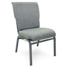 Auditorium Steel Frame Fabric Upholstered Stacking Chair - Charcoal