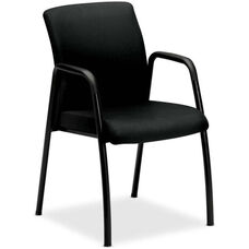 The HON Company Ignition Seating Guest Armchair with Steel Frame - Black