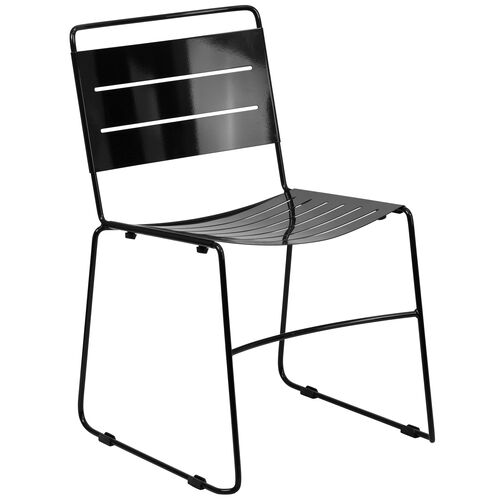 Our HERCULES Series Black Indoor-Outdoor Metal Stack Chair is on sale now.