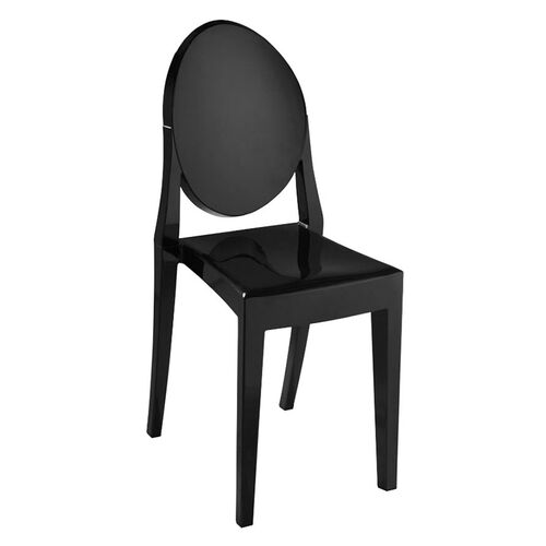 Louie Acrylic Stackable Armless Outdoor Side Chair