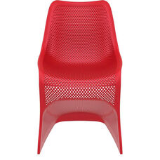Bloom Contemporary Polypropylene Dining Chair - Red