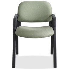 Safco Cava Urth Straight Leg Stacking Guest Armchair with Upholstered Back and Seat - Green
