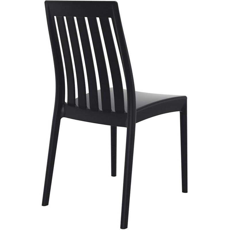 ... Our Soho Modern Outdoor Resin Stackable High Back Dining Chair   Black  Is On Sale Now ...