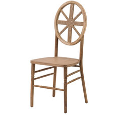 Veronique Series Stackable Wagon Wood Dining Chair - Tinted Raw