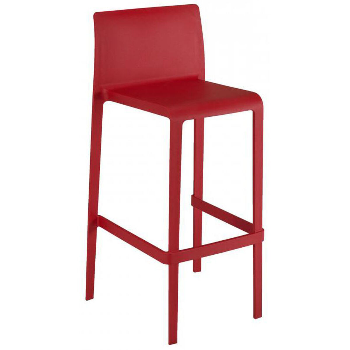 Outdoor Barstool Armless Shell Volt B Red