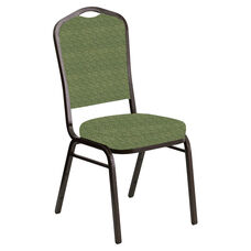 Crown Back Banquet Chair in Arches Herbal Fabric - Gold Vein Frame