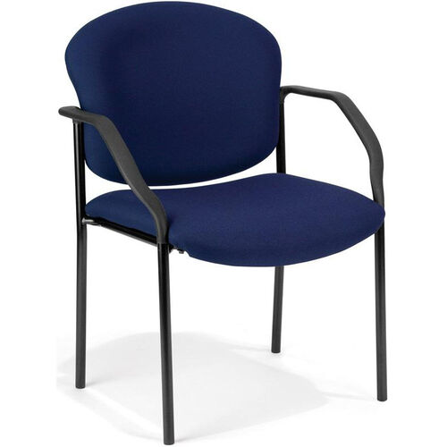 Our Manor Guest and Reception Fabric Chair with Arms - Navy is on sale now.