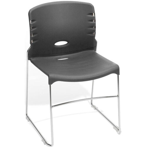 Our 300 lb. Capacity Plastic Seat and Back Stack Chair - Gray is on sale now.