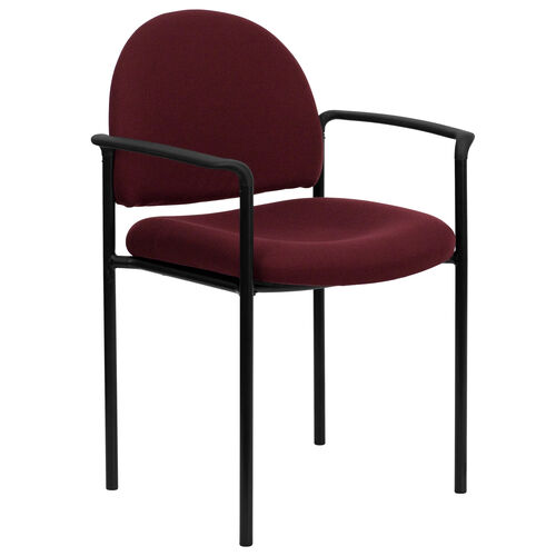 Our Comfort Burgundy Fabric Stackable Steel Side Reception Chair with Arms is on sale now.