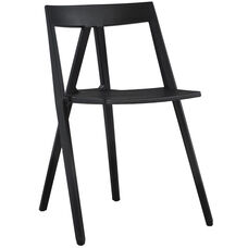 Milan Resin Polypropylene Stackable Event Chair - Black