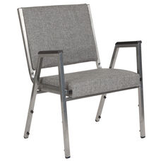 HERCULES Series 1500 lb. Rated Gray Antimicrobial Fabric Bariatric Antimicrobial Medical Reception Arm Chair
