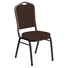 Crown Back Banquet Chair in Amaze Blaze Fabric - Gold Vein Frame