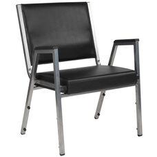 HERCULES Series 1500 lb. Rated Black Antimicrobial Vinyl Bariatric Antimicrobial Medical Reception Arm Chair