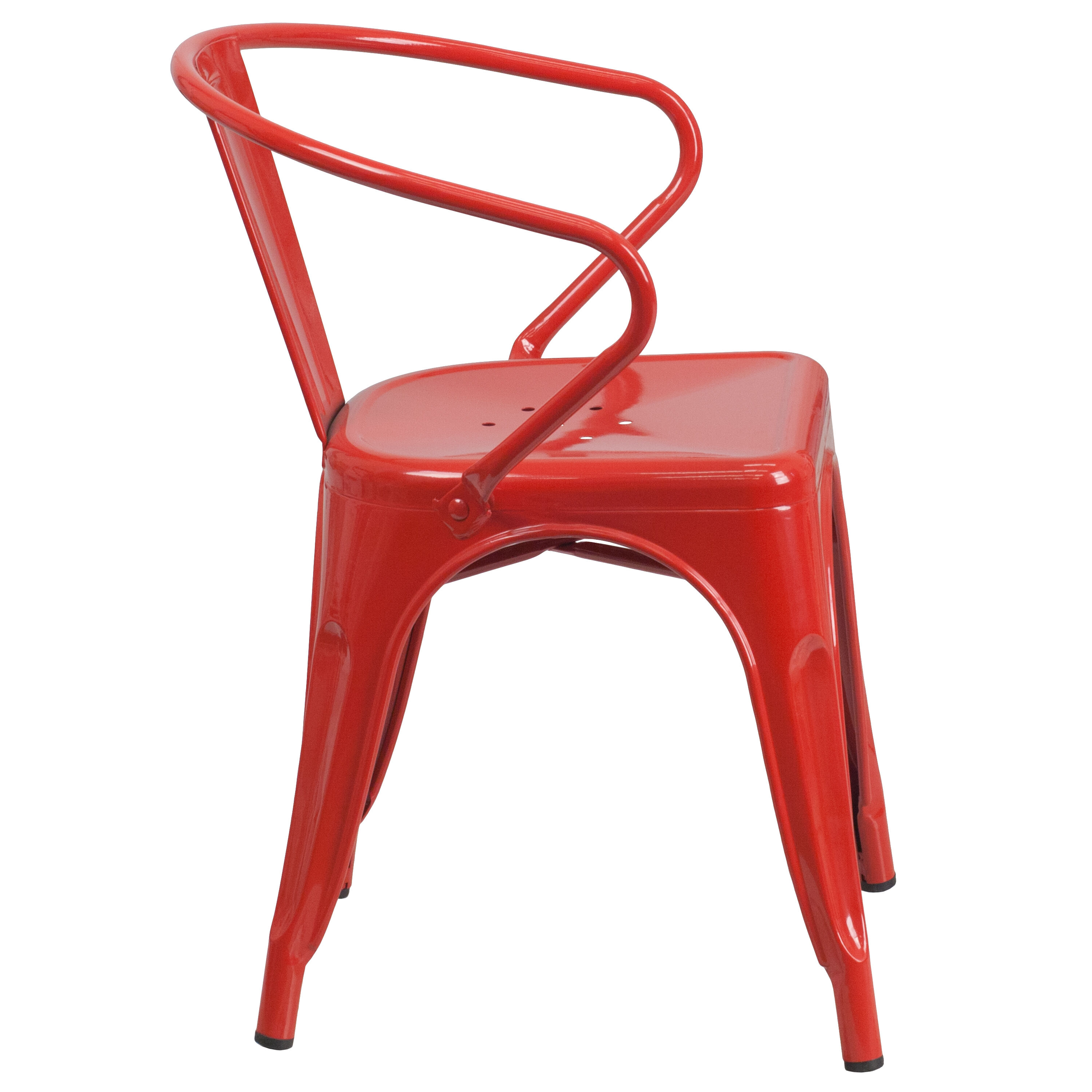 Ordinaire Our Red Metal Indoor Outdoor Chair With Arms Is On Sale Now.