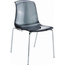 Allegra Polycarbonate Indoor Dining Chair - Transparent Black