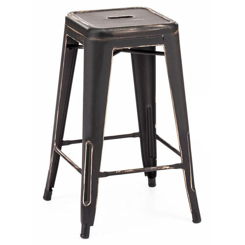 Dreux Stackable Vintage Steel Counter Stool - Set of 4