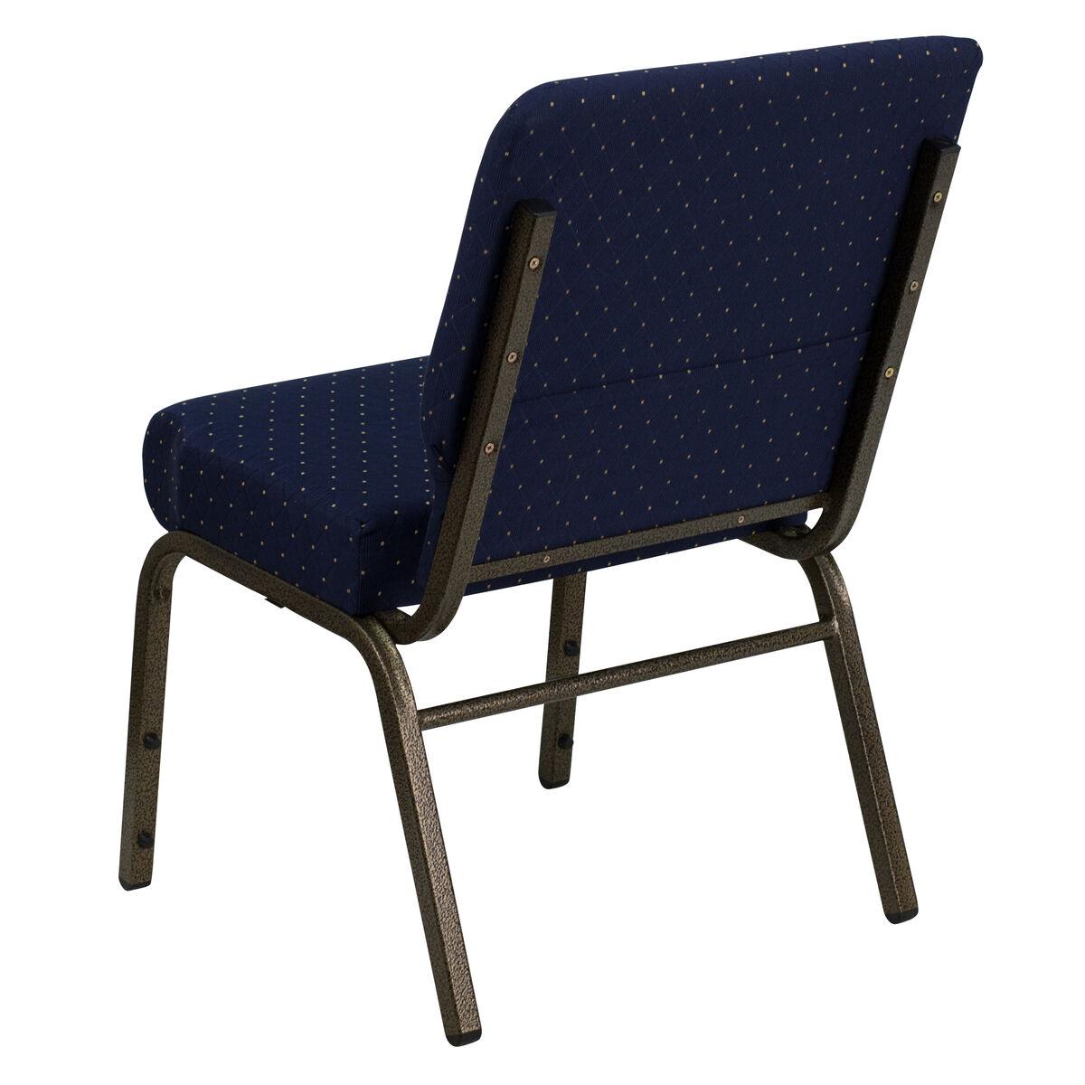 blue dot fabric church chair fd ch0221 4 gv s0810 gg