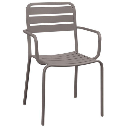 Our Vista Stackable Outdoor Aluminum Arm Chair - Earth is on sale now.