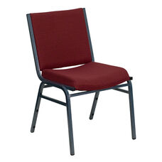 HERCULES Series Heavy Duty Burgundy Patterned Fabric Stack Chair