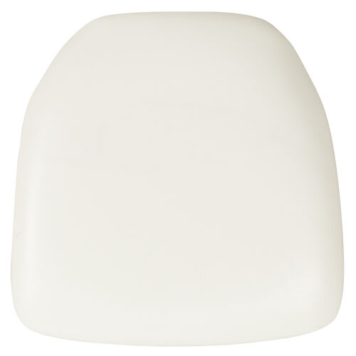 Hard White Vinyl Chiavari Chair Cushion