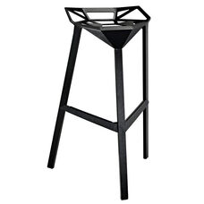 Launch Stacking Bar Stool in Black