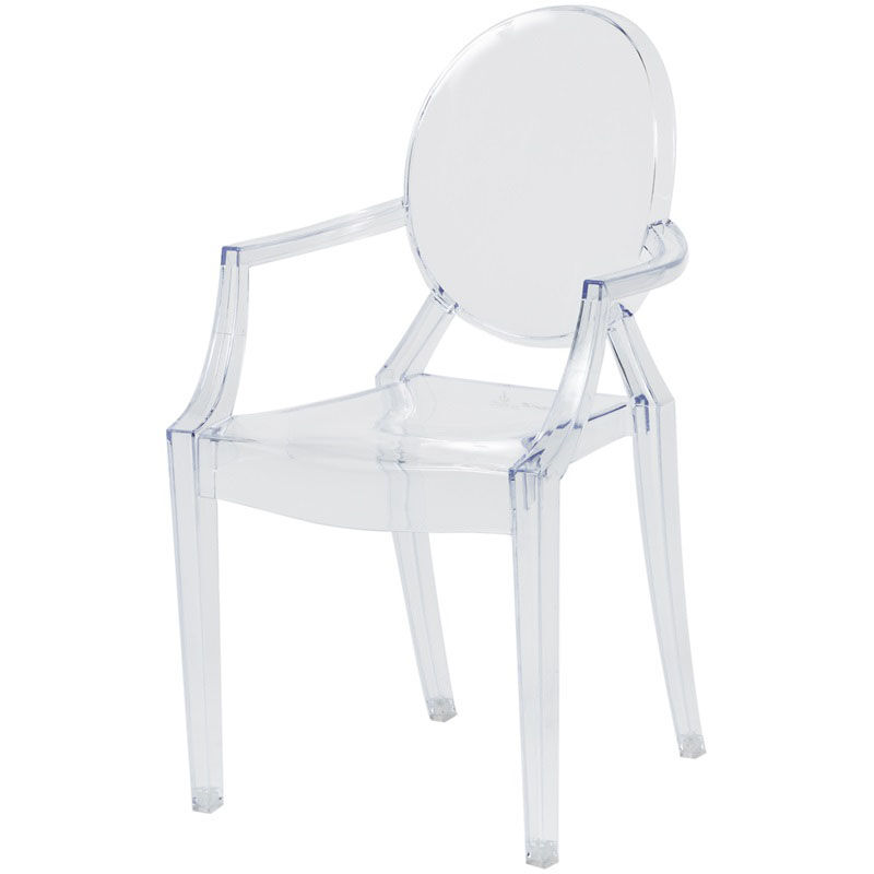 Commercial Seating Products Kids Clear Polycarbonate Baby Kage Chair With  Arms RPC KAGE BABY ARMS   StackChairs4Less.com