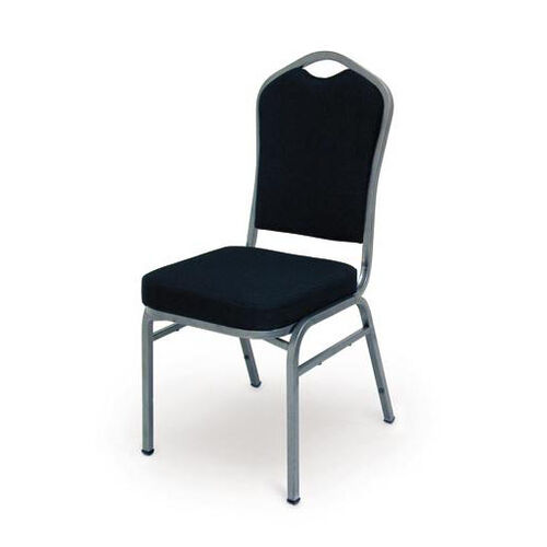 Our Superb Seating Heavy-Duty Steel Frame Fabric Upholstered Stacking Chair - Black is on sale now.