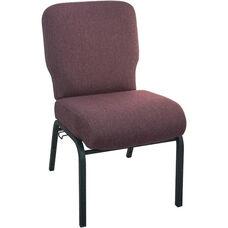 Advantage Signature Elite Black Cherry Church Chair - 20 in. Wide
