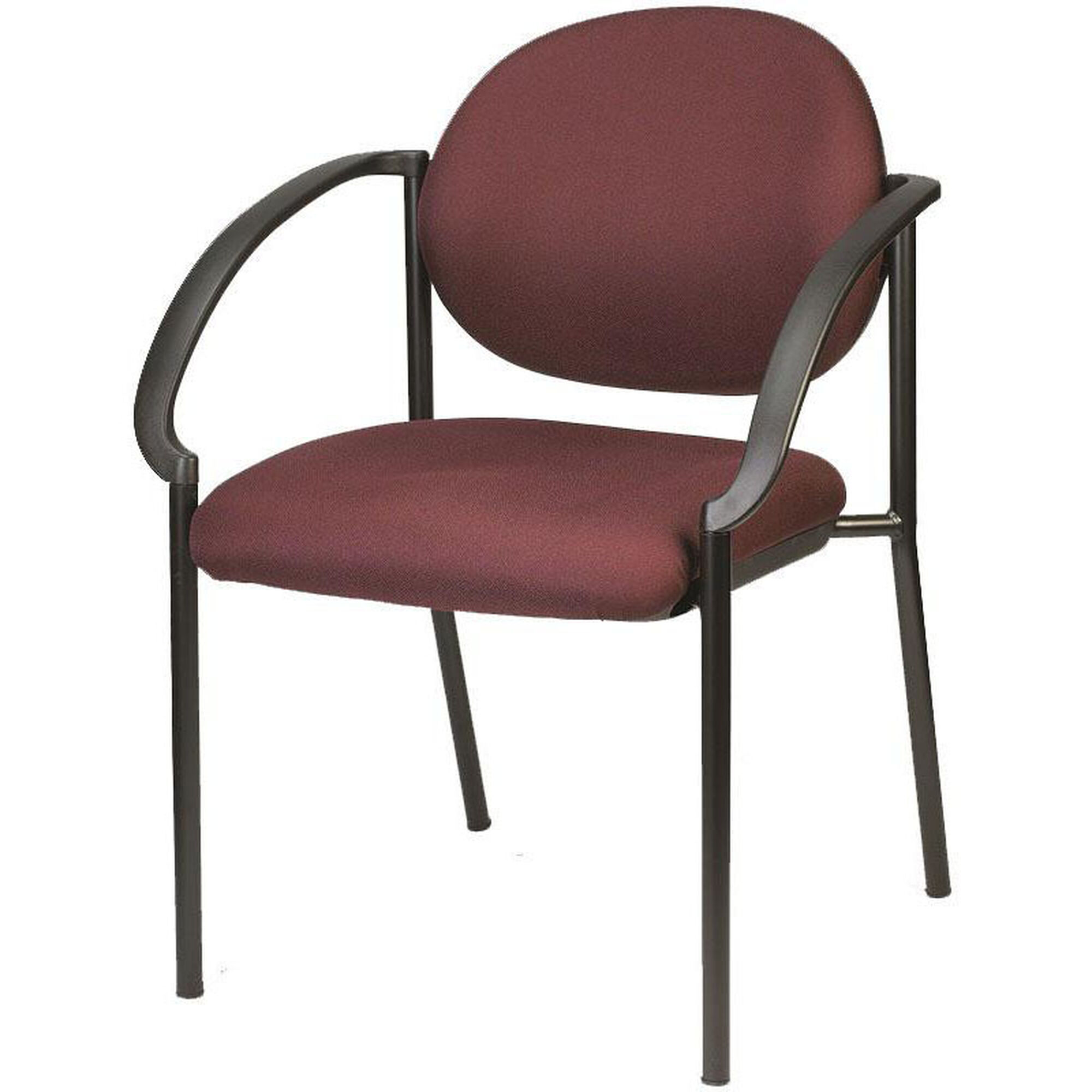 curved arm stack chair burgundy 9011 at31. Black Bedroom Furniture Sets. Home Design Ideas