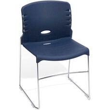 300 lb. Capacity Plastic Seat and Back Stack Chair - Navy