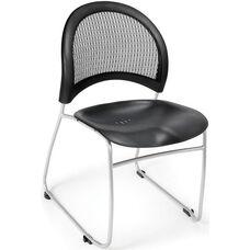 Moon Plastic Stack Chair - Black