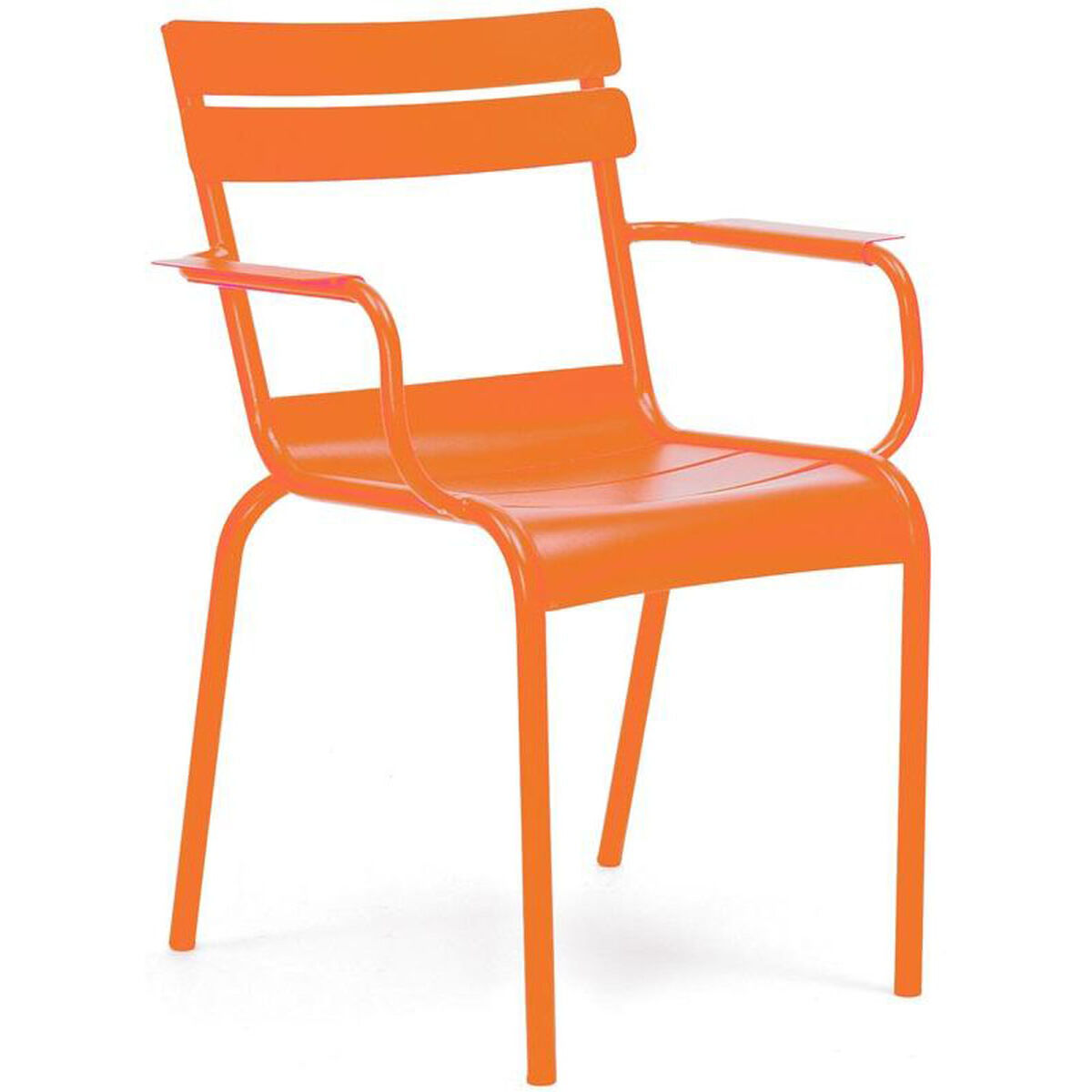 Design Lab Mn Chatou Orange Stackable Metal Side Chair