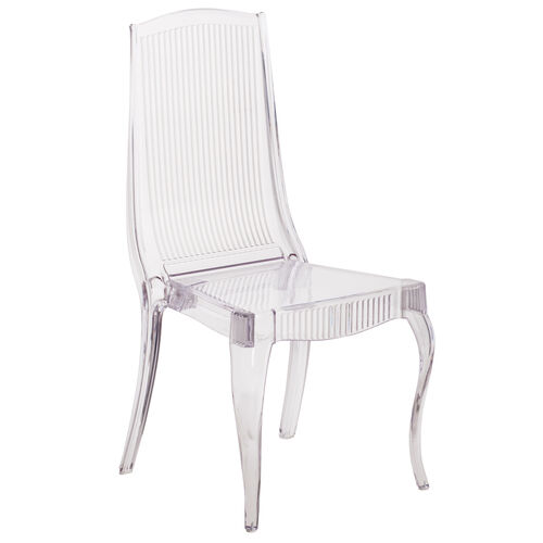 Our Flash Elegance Crystal Ice Stacking Chair with Full Back Vertical Line Design is on sale now.