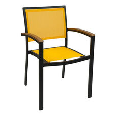 South Beach Collection Stackable Outdoor Arm Chair in Solid Colors