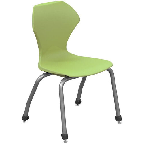 Apex Series Plastic Stack Chair with Gray Frame