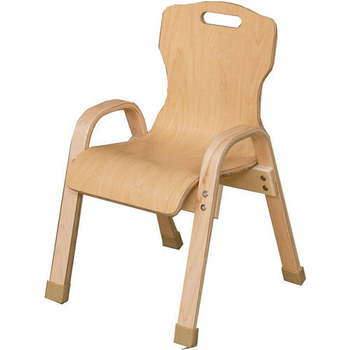 Stacking Bentwood Plywood Kids Chair with Arms - 14.19