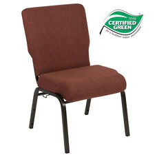 Advantage 20.5 in. Cinnamon Molded Foam Church Chair
