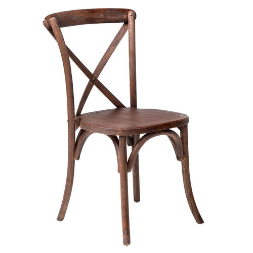 Our Rustic Sonoma Solid Wood Cross Back Stackable Dining Chair - Marian Fruitwood is on sale now.