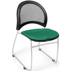 Moon Stack Chair with Fabric Seat Cushion - Shamrock Green