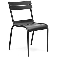 Chatou Black Stackable Metal Armless Side Chair - Set of 4